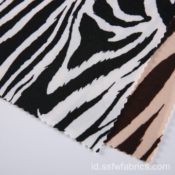 Zebra Stripes Jersey Tekstil, Pencetakan Kain Digital