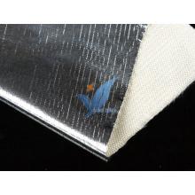 Tissu en verre revêtu de feuille d'aluminium