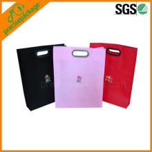 bolso de compras tejido eco reutilizable de los PP con la manija cortada con tintas