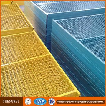 Paneles de valla revestidos de PVC durable de 6'x10 '