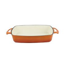 Deep Rectangular Dish Emaille Gusseisen Backform Kochgeschirr
