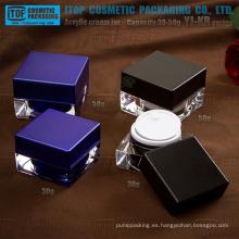 Lujo de la serie YJ-KB 30g 50g color personalizable recto cuadrado de acrílico envases cosméticos