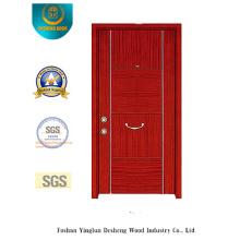 Porte en acier de sécurité rouge brun Simplestyle (t-1010)