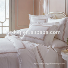 white cotton embroidered duvet cover with zipper