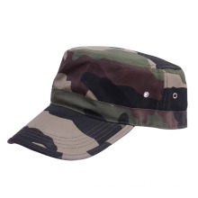 Adjustable Flat Top military cap camo Cotton Fitted Army Cap with border on brim