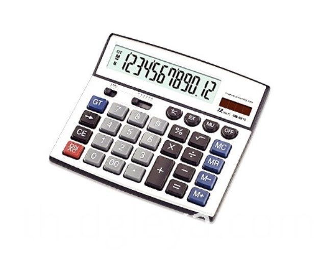 12-digit Big Electronic Calculator