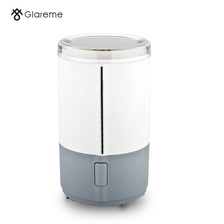 Electric coffee grinder in home kitchen