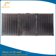 Panel solar portátil flexible estándar del estándar 3 * 50W del TUV de la eficacia alta