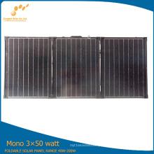 Painel solar portátil flexível do padrão 3 * 50W do CE da eficiência elevada TUV