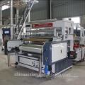 LLDPE horizontal tres capas estiramiento película que hace la máquina