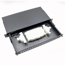 FDU 19 Inch rack mounted ODF Slide Type 1U 24 port SC type cable patch panel distribution box
