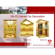 Aufzugskabine mit goldenem Spiegel und Rahmen (SN-122)