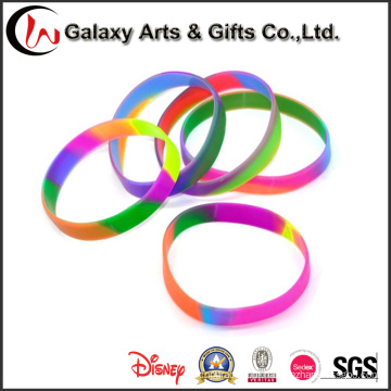Bracelete personalizado por atacado da energia do encanto do silicone do bracelete do silicone do redemoinho da fábrica para esportes