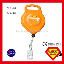 SRL-20 Aluminum with Swivel Hook Wire Cable 20M Retractable Lifeline Fall Arresters