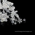 wholesale hair accessories rhinestone flower pearl handmade custom  headpiece bridal wedding crystal tiara