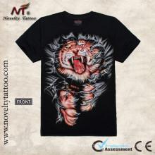 T100257 O tatuagem do tigre projeta a camisa de T