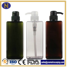 650ml Body Care Plastic Square Bottle with Pump