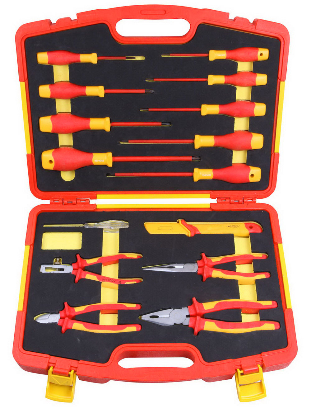 VDE 15PCS screwdriver and plier set