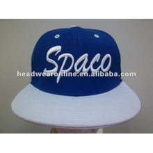 flat brim snapback cap/flat peak snapback hats