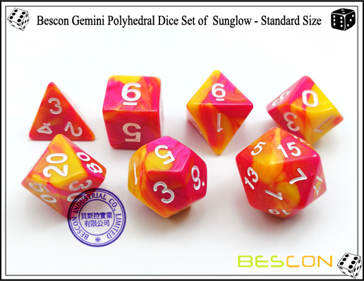 Bescon Gemini Dice Set of Sunglow-3