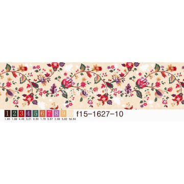 Tissu Disperse Printing Flower Designs Fabric120-125GSM