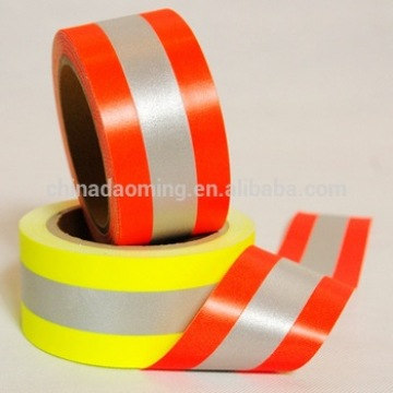 EN469 high visibility silver yellow fire resistance flame retardant aramid backing warning reflective fabric tape