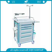 AG-ET005B1 ABS emergency trolley used hospital nursing clinical carts