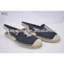 Sapatos planos sapatos de cânhamo pano sapatos casuais e confortáveis de protecção do ambiente único sapatos sapatos de lona