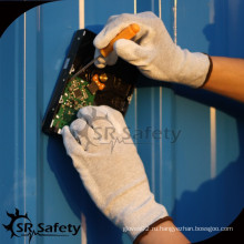SRSAFETY 13 Ga самые конкурентоспособные цены pu окунутые рабочие перчатки / антистатические перчатки