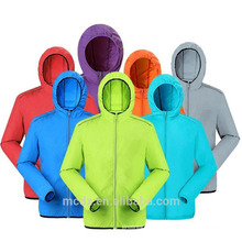 Outdoor Men Women's Jacket Fast Drying Anti-UV impermeável respirável pele jaqueta