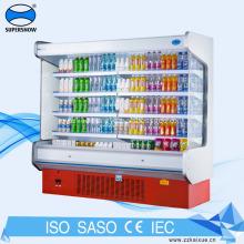 Fan Cooling Commercial Supermarket Display Refrigerator