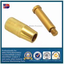 Usinagem de peças de torneado latão CNC fabricante china (wkc-325)
