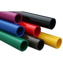 Longitud modificada para requisitos particulares Tubo plástico redondo colorido del PVC PP de 12 pulgadas de diámetro