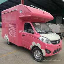 Chine célèbre foton meilleur prix camion de crème glacée camion de nourriture mobile à vendre