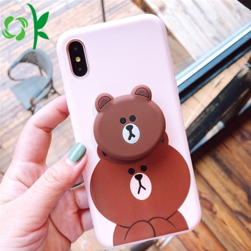 Cartoon Silicone 3d Phone Case Mjuk för Apple