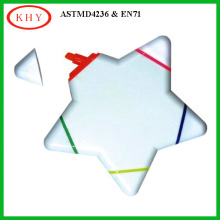 Non Toxic Multi-color Star Shape Highlighter as Promotional Gift