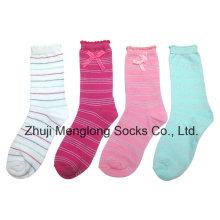 Calcetines de algodón de excelente calidad chica con arco