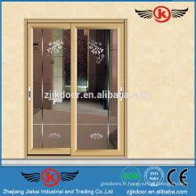 JK-AW9125 portes à double entrée en verre intérieur / porte d'entrée en verre commerciale