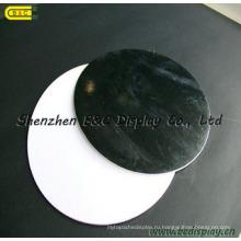 Креативные круглые черные доски торта, в индивидуальной упаковке с белой доски торта щит (B и C-K049)