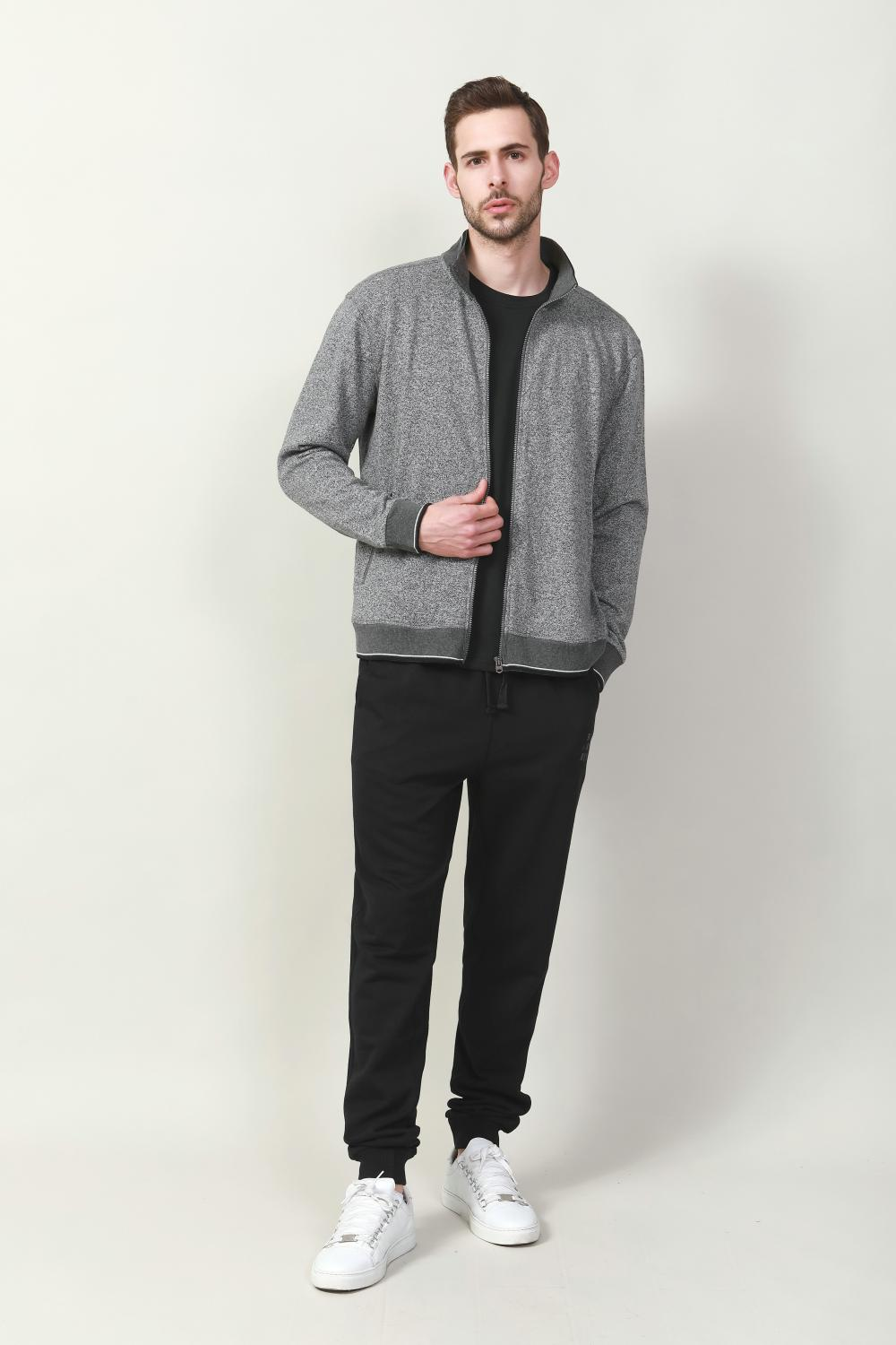 men's two side pocket zip jacket