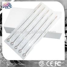 Aiguille stérilisée d'acupuncture jetable pré-fabriquée et qualité supérieure, aiguilles stériles pour tatouage à la presse