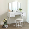 Bedroom Plywood vanity dressing table with mirror