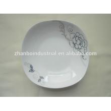 Placa de China de hueso nueva, placa de cena cuadrada