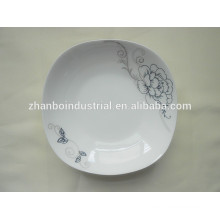 Fine new bone china plate,square dinner plate