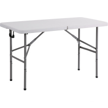 4FT Plastic Rectangle Folding Table, Dining Table, Camping Table
