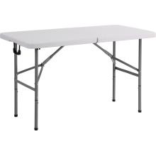 Mesa de dobrável de retângulo plástica 4FT, mesa de jantar, mesa de acampamento