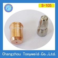 Bocal e eletrodo de corte de plasma de ar S105 de trafimet