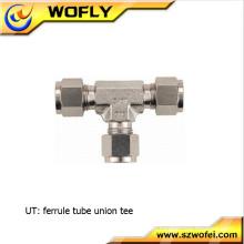 SS316 Acessórios para tubos de 3 vias