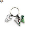 Souvenir metal keychain with animals shape