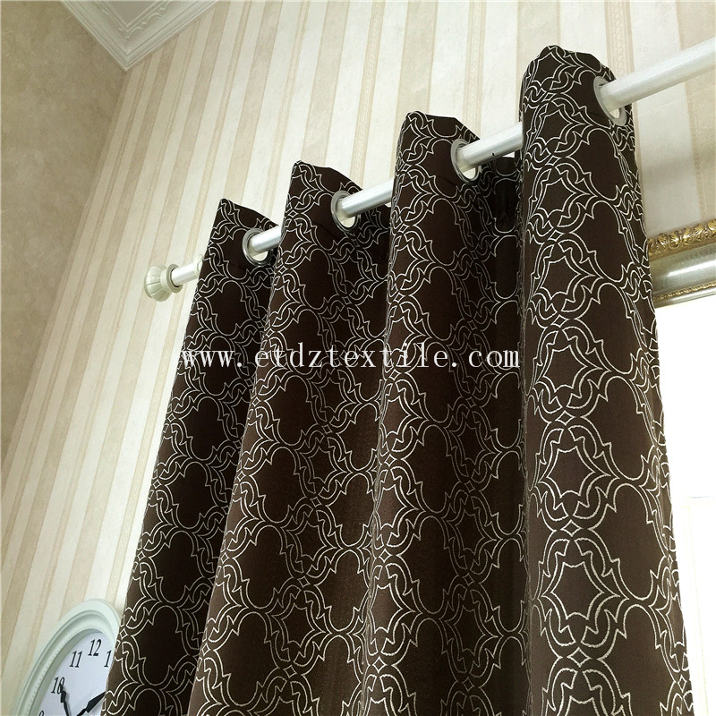 Modern Fashionable Curtain Pattern in Jacquard GF027